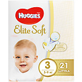 Подгузники Elite Soft 3, 5-9 кг, 21 шт., Huggies