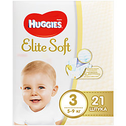 ���������� Elite Soft 3, 5-9 ��, 21 ��., Huggies