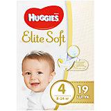 Подгузники Elite Soft 4, 8-14 кг, 19 шт., Huggies