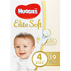 ���������� Elite Soft 4, 8-14 ��, 19 ��., Huggies