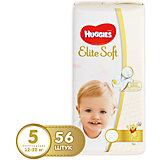 Подгузники Elite Soft 5, 12-22 кг, 56 шт., Huggies