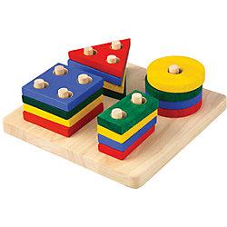 "Сортер ""Доска с геометрическими фигурами"", Plan Toys"