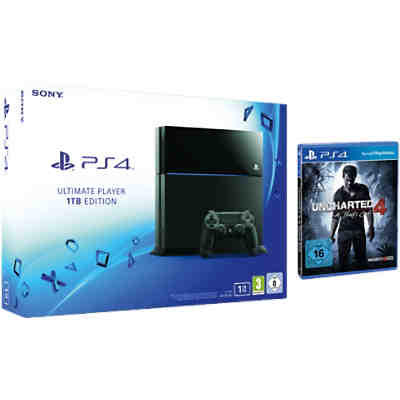 Sony PS4 Konsole 1TB + Uncharted 4 A Thief's End