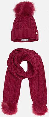 Комплект:шапка и шарф для девочки Mayoral - красный