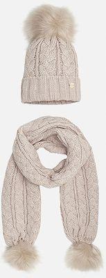 Комплект:шапка и шарф для девочки Mayoral - бежевый