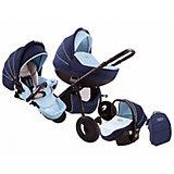 Коляска 3 в 1 Zippy Sport Plus, Tutis, темно-синий/голубой