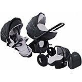 Коляска 3 в 1 Zippy Sport Plus, Tutis, темно-серый/светло-серый