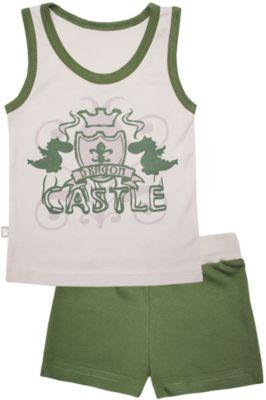 Пижама: майка и шорты для мальчика KotMarKot - зеленый