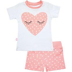 Пижама: футболка и шорты для девочки КотМарКот