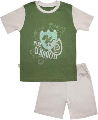 Пижама: футболка и шорты для мальчика KotMarKot - зеленый