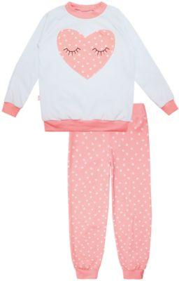 Пижама: футболка с длинным рукавом и штаны для девочки KotMarKot - розовый