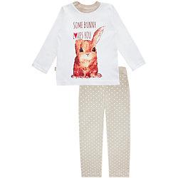Пижама: футболка с длинным рукавом и штаны для девочки КотМарКот