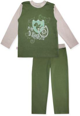 Пижама: футболка с длинным рукавом и штаны для мальчика KotMarKot - зеленый