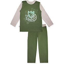 Пижама: футболка с длинным рукавом и штаны для мальчика КотМарКот