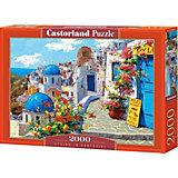 """Пазл """"Весна в Санторини"""", 2000 деталей, Castorland"""