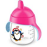 Чашка-поильник, 260 мл, 12 мес+, Philips Avent, розовый