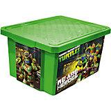 """Ящик для хранения игрушек """"X-BOX"""" """"Черепашки ниндзя"""" 17л, Little Angel, зеленый"""