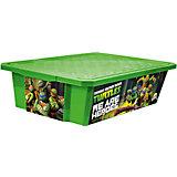 """Ящик для хранения игрушек """"X-BOX"""" """"Черепашки ниндзя"""" 30л на колесах, Little Angel, зеленый"""