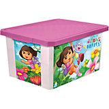 """Ящик для хранения игрушек """"X-BOX"""" """"Даша путешественница"""" 12л, Little Angel, розовый"""