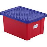 Ящик для хранения игрушек малый 17л, Little Angel, красный лего