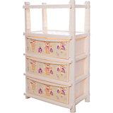 Комод для детской комнаты Bears 610мм комбинированный, Little Angel, слоновая кость