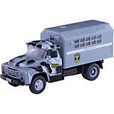 """Машина """"Зил 130: Полиция ОМОН"""", 20см, инерционная, со звуком и светом, Технопарк"""