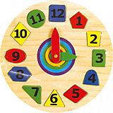 Часы геометрия, Мир деревянных игрушек