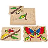 Многослойный пазл Бабочка, Мир деревянных игрушек