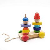 Пирамидка-каталка Мальчик и девочка, Мир деревянных игрушек