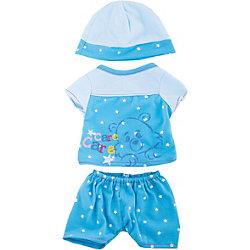 """Одежда для кукол """"Пижама в наборе с шапочкой"""