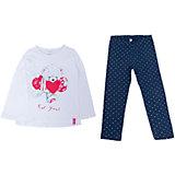 Комплект: футболка с длинным рукавом и леггинсы для девочки PlayToday