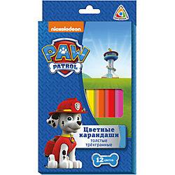 """Трехгранные цветные карандаши """"Щенячий Патруль"""", 12 цв."""