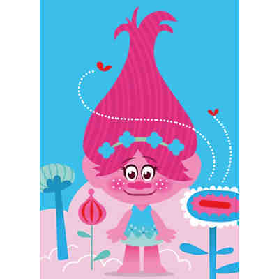 Kinderteppich Trolls, Queen Poppy, 95 x 133 cm