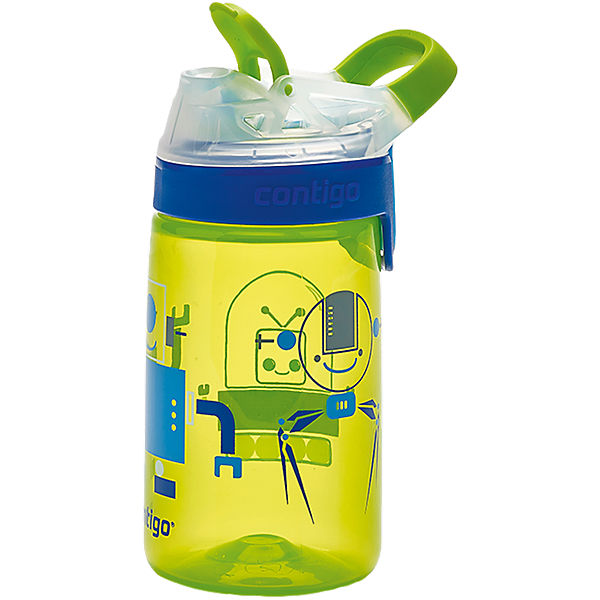 Trinkflasche Gizmo Sip Chartreuse Robots, 420 ml