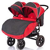 Прогулочная коляска для двойни Cruze DUO, Baby Care, красный