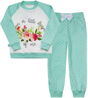 Пижама для девочки KotMarKot - синий/белый