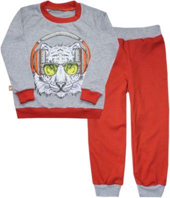 Пижама для мальчика КотМарКот - бордовый