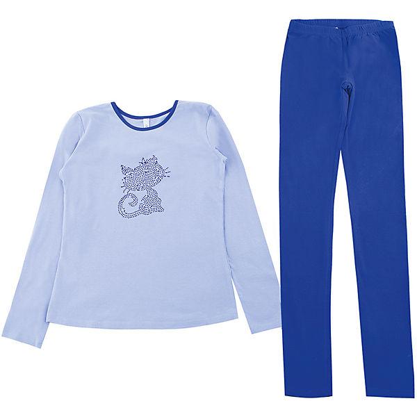 Комплект: футболка с длинным рукавом и брюки для девочки S'cool