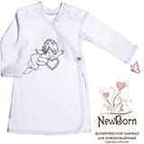 Крестильная рубашка с шитьем, р-р 68,  NewBorn, белый