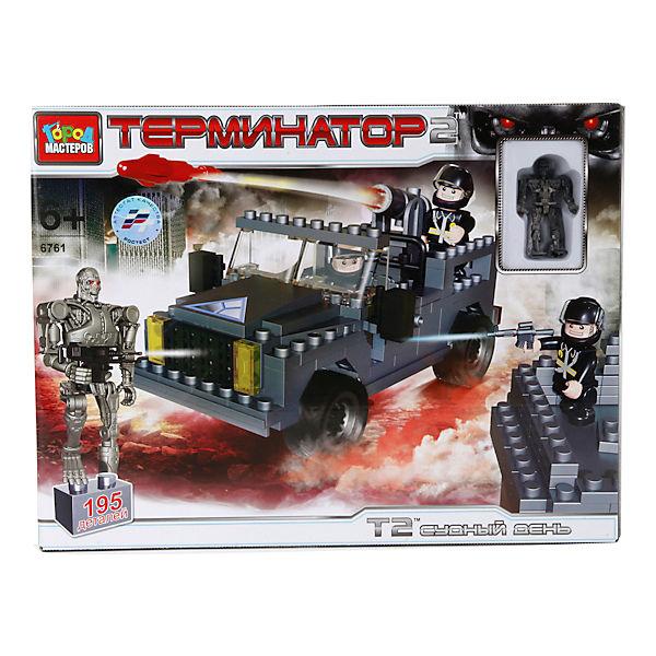 """Конструктор """"Терминатор"""" стреляющий джип, с фигуркой"""