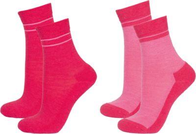 Термоноски: 2 пары для девочки Janus - розовый