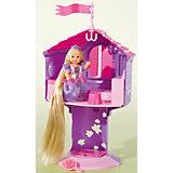 """Кукла с длинными волосами в сказочной башне """"Еви"""""""