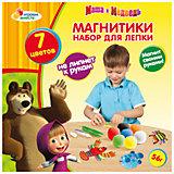 "Набор для лепки ""Магнитики"", Маша и Медведь"
