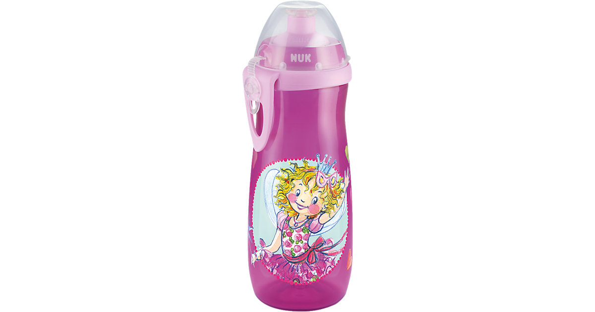 Trinkflasche Sports Cup, PP, 450 ml, Push-Pull-Tülle, Prinzessin Lillifee pink