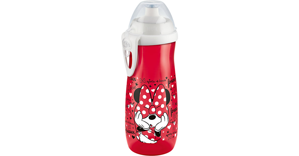 Trinkflasche Sports Cup, PP, 450 ml, Push-Pull-Tülle, Disney Mickey rot