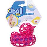 """Игрушка для ванны """"Уточка"""", розовая, Oball"""