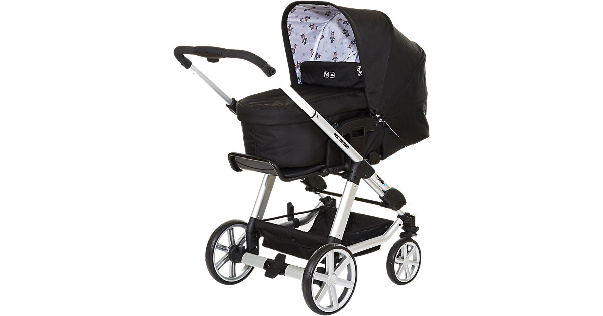 ABC Design Kombi Kinderwagen Turbo 4, zebra, 2017