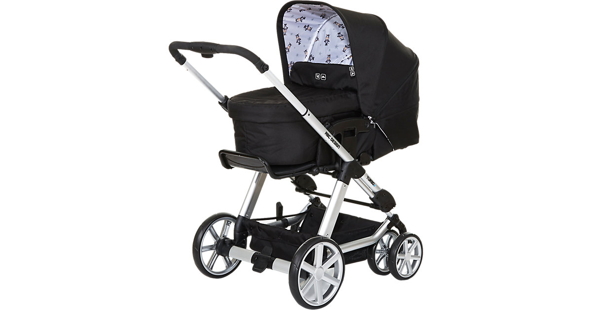 ABC Design Kombi Kinderwagen Turbo 6, zebra, 2017