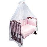 Постельное белье Прованс 7 пред, Сонный гномик, розовый