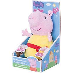 """Мягкая игрушка """"Пеппа"""",30 см, речь, свет и звук, Свинка Пеппа"""